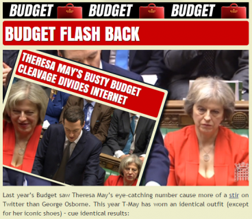 Budget 2016: Cuts, tax and education…and all you can tweet about is Theresa May's cleavage?