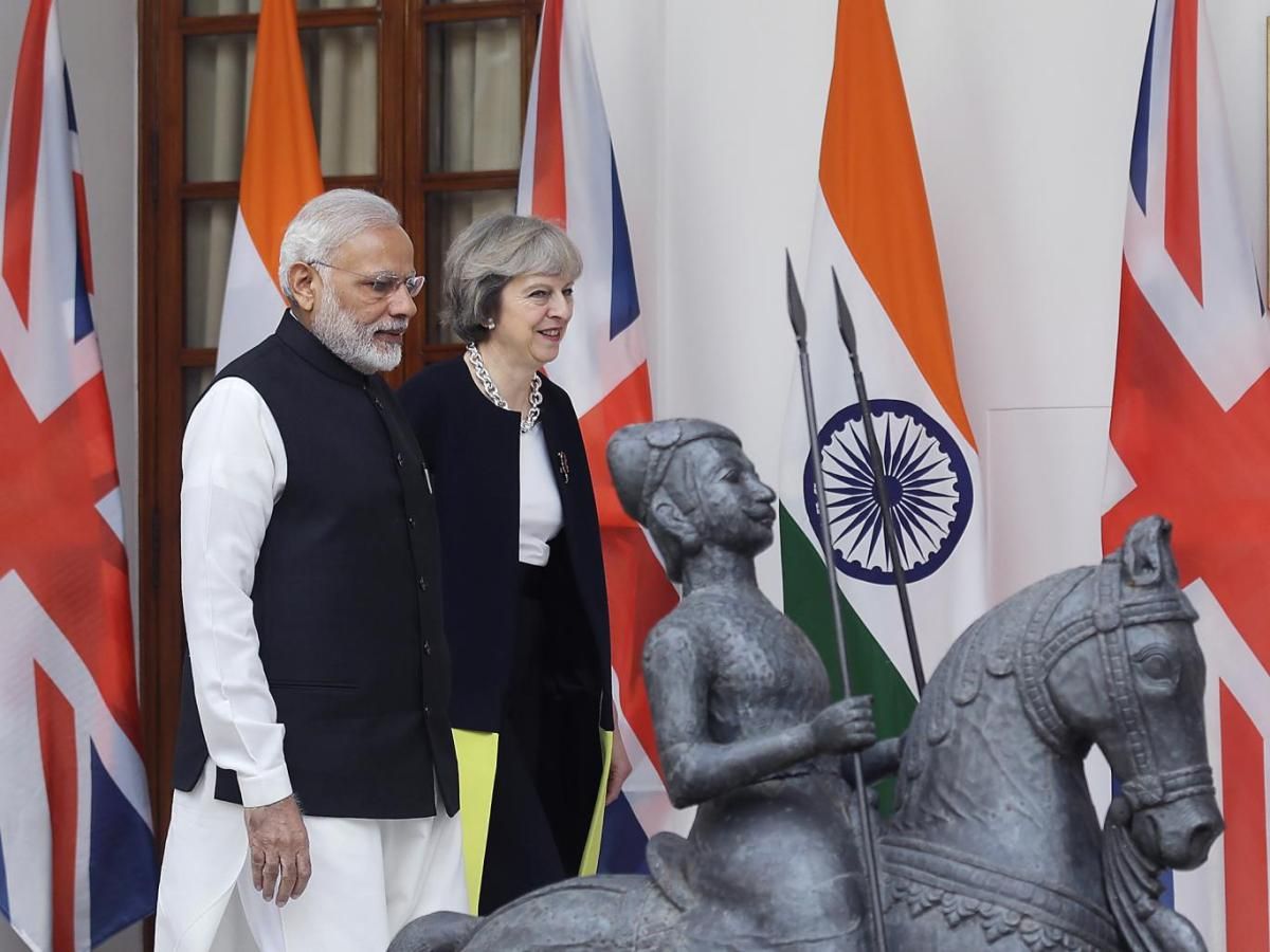 Theresa May has some cheek going cap in hand to India, an ex-British colony, for a post-Brexitdeal