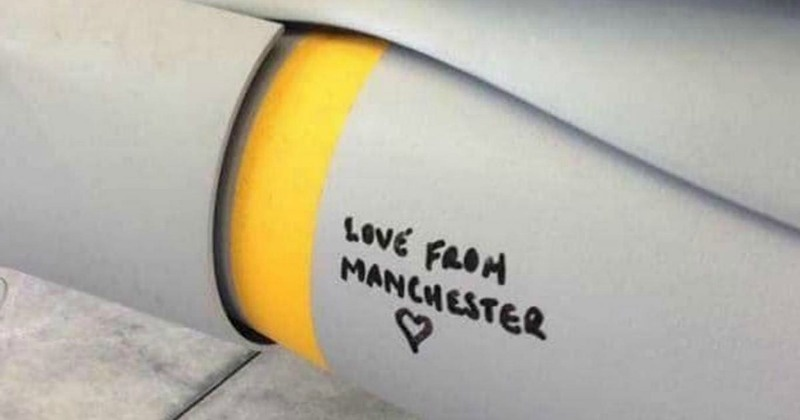 I'm sickened by the RAF bomb with 'Love from Manchester' written on it – how dare you drop that in my city's name